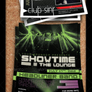Concert, Club, or Band Flyer Set – By CursiveQ
