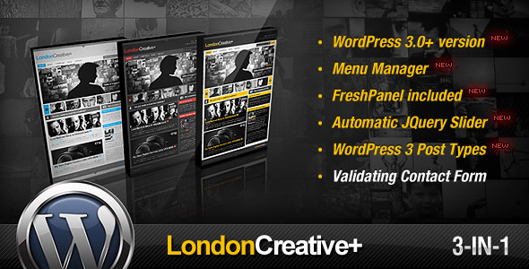 London Creative + (Portfolio & Blog WP Theme) – by freshface