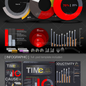 Infographic Elements + Template – by CursiveQ