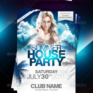 Summer House Party Flyer – by PartyFlyer