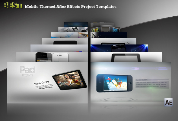 14 mobile themed after effects project templates - best designers, Powerpoint templates