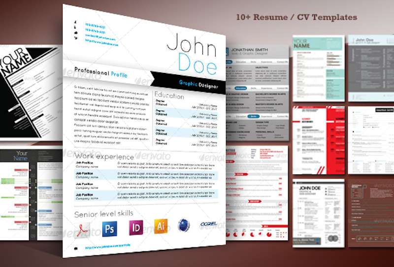 10+ Stylish Resume / CV Templates