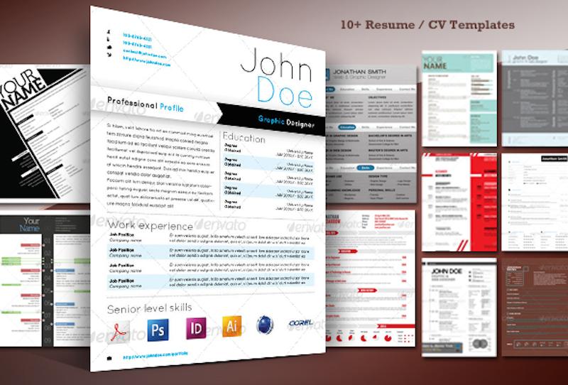 10+ Stylish Resume / CV Templates