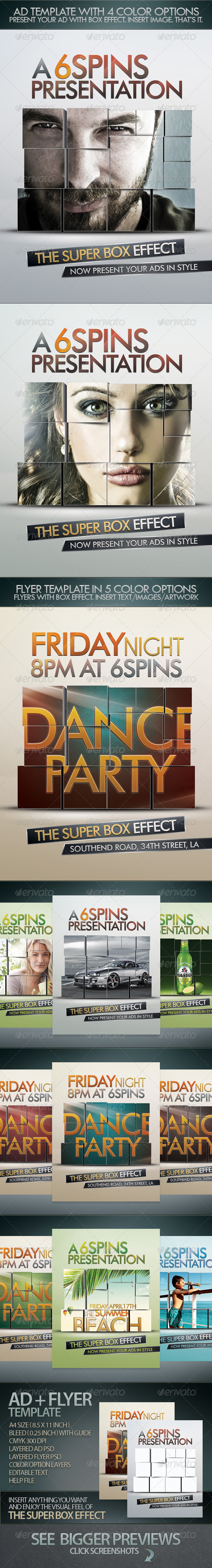 Ad And Party Flyer Template With Super Box Effect