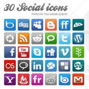30 Modern Social Icons – by InventGroup
