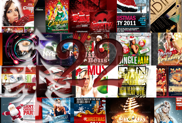 22 Festive Christmas and New Years Party Flyers