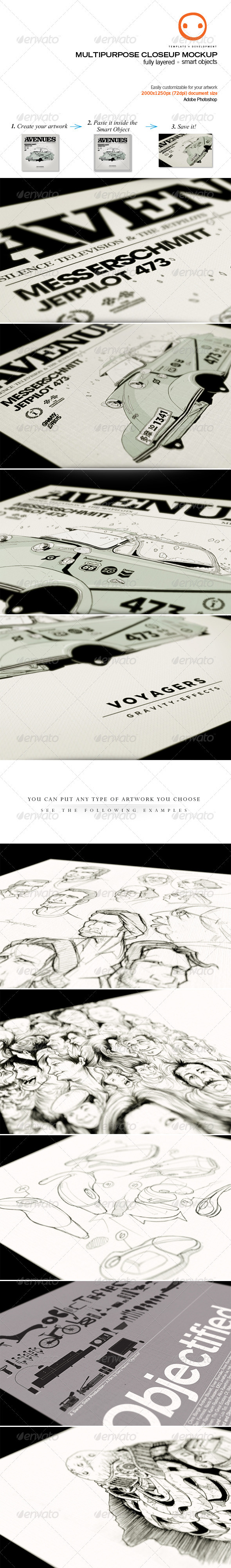 Multipurpose Closeup Mockup