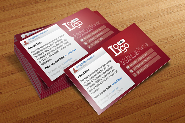 Social Media Consultant Business Card Template – FREE
