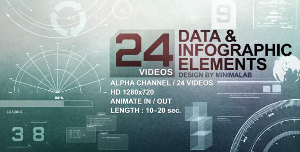 24 Videos Data & Infographic Elements
