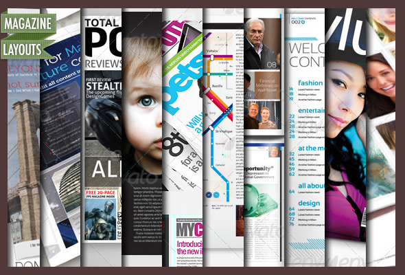 10 Full Magazine Layout Templates for InDesign and Photoshop ...
