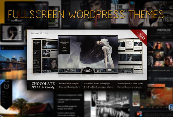 10 Full Screen Wordpress Theme Templates