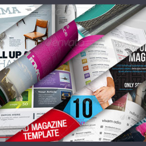 9 More Magazine Layouts for InDesign and Photoshop