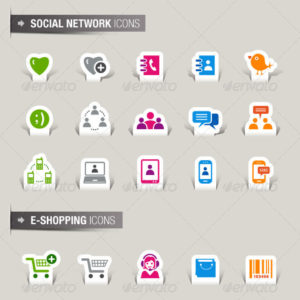 105 Papercut Icons – Vectors and EPS