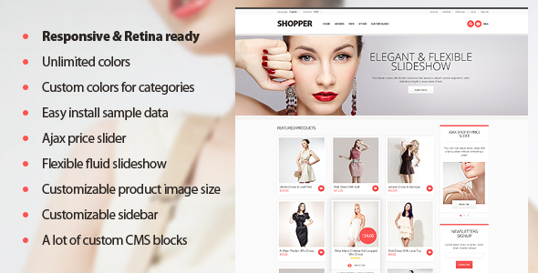 Shopper – Magento Theme, Responsive & Retina Ready