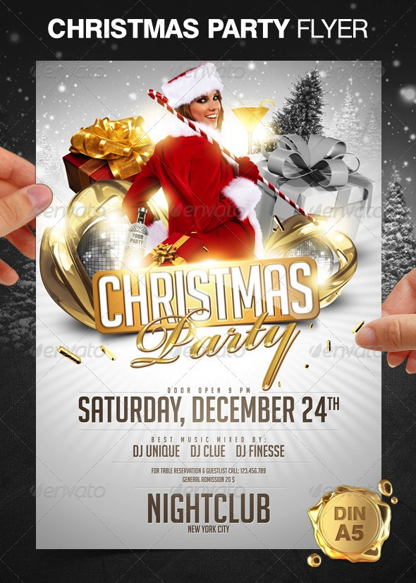holiday flyer templates free download