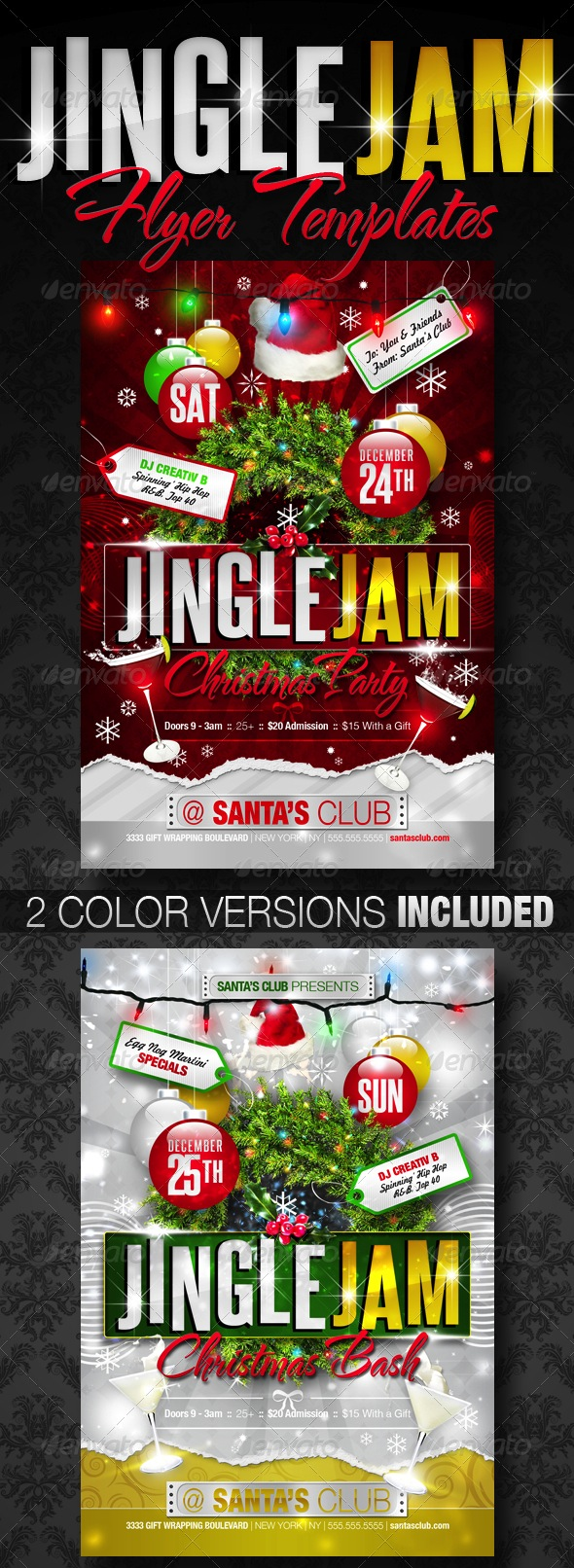 festive christmas and new years eve holiday flyers best designers jingle jam christmas party flyer templates