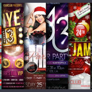 23 Festive Christmas and New Years Eve Holiday Flyers