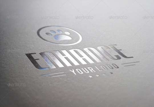 10 Photorealistic Logo Mock-Ups / Set 1