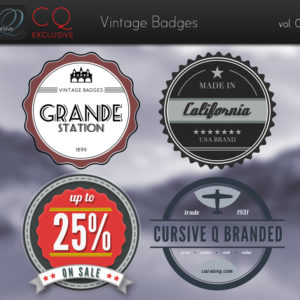 CQ – Vintage Badges .PSD vol. 1