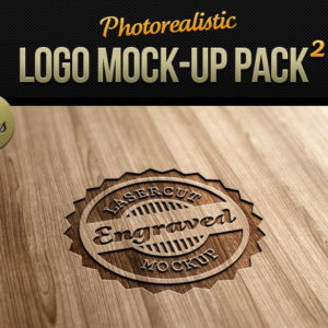 Photorealistic Logo Mock-Up Pack 2