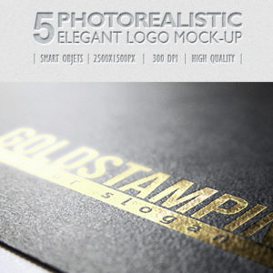 5 Photorealistic Logo Mock-Up | Pack 1