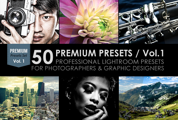 50 Premium Lightroom Presets / Vol.1