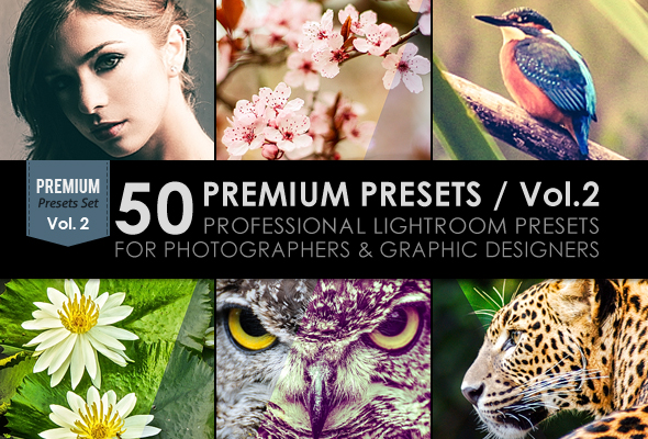 50 Premium Lightroom Presets / Vol.2