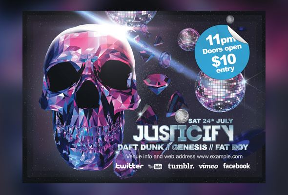 justicify-photoshop-a3-poster-a6-flyer-preview