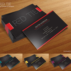 Red Tie – Free Business Card Template