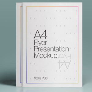 A4 Psd Flyer Mock-Up – Free