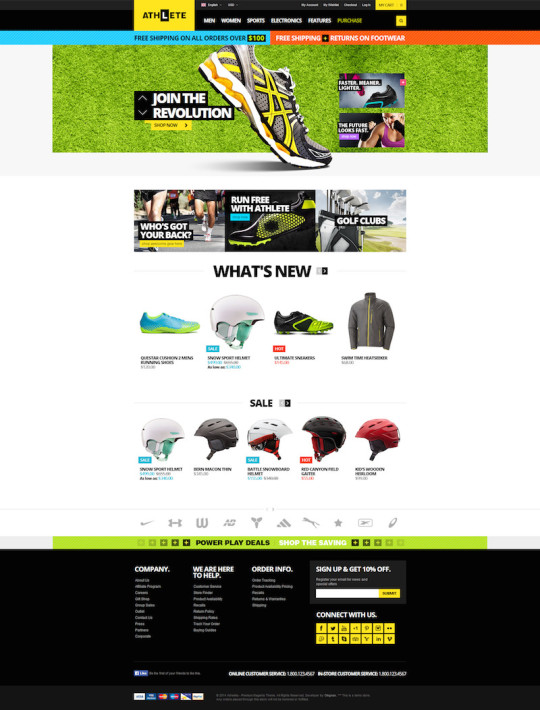 Athlete – Responsive Magento Theme