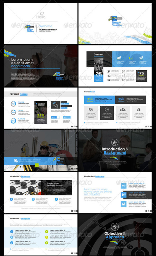 4900+ Slides – Business Survey Powerpoint Infographic Template