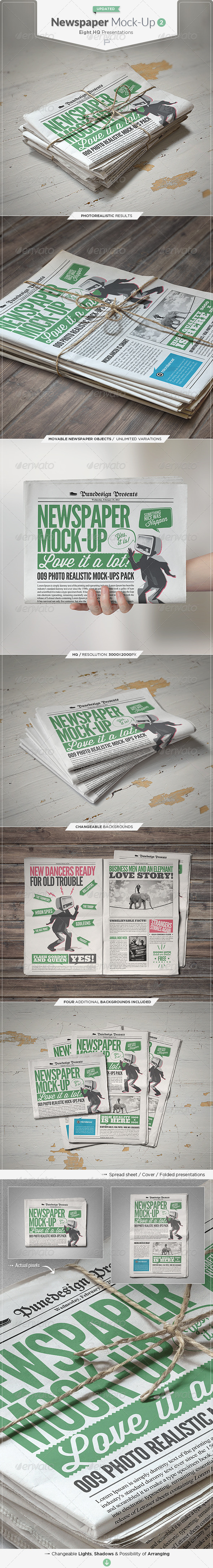 Newspaper : Newsletter Mock-Up - 2