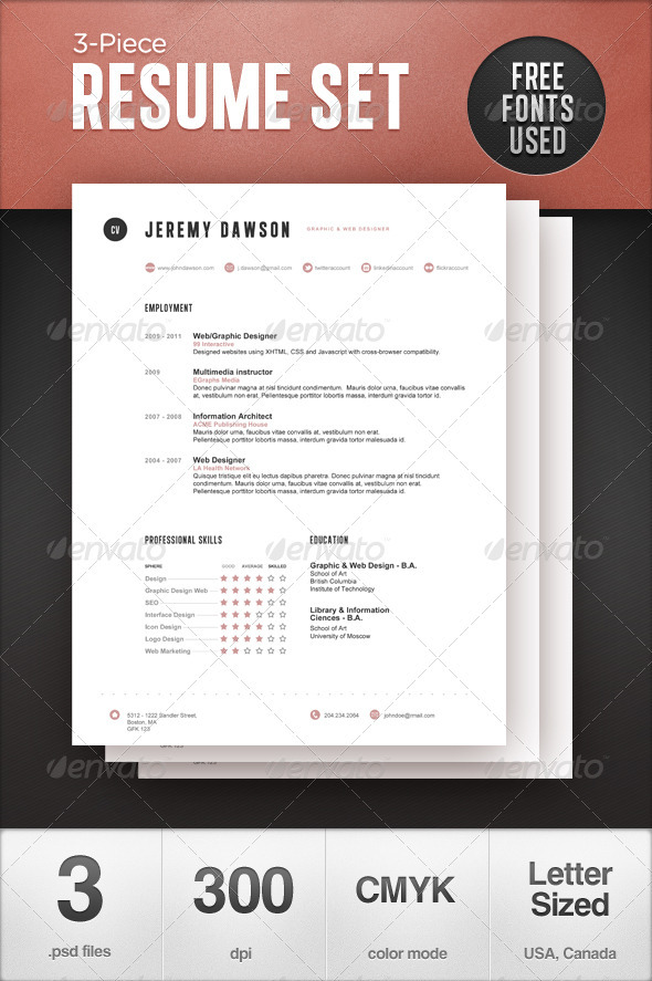 10 best swiss style resume cv templates best designers