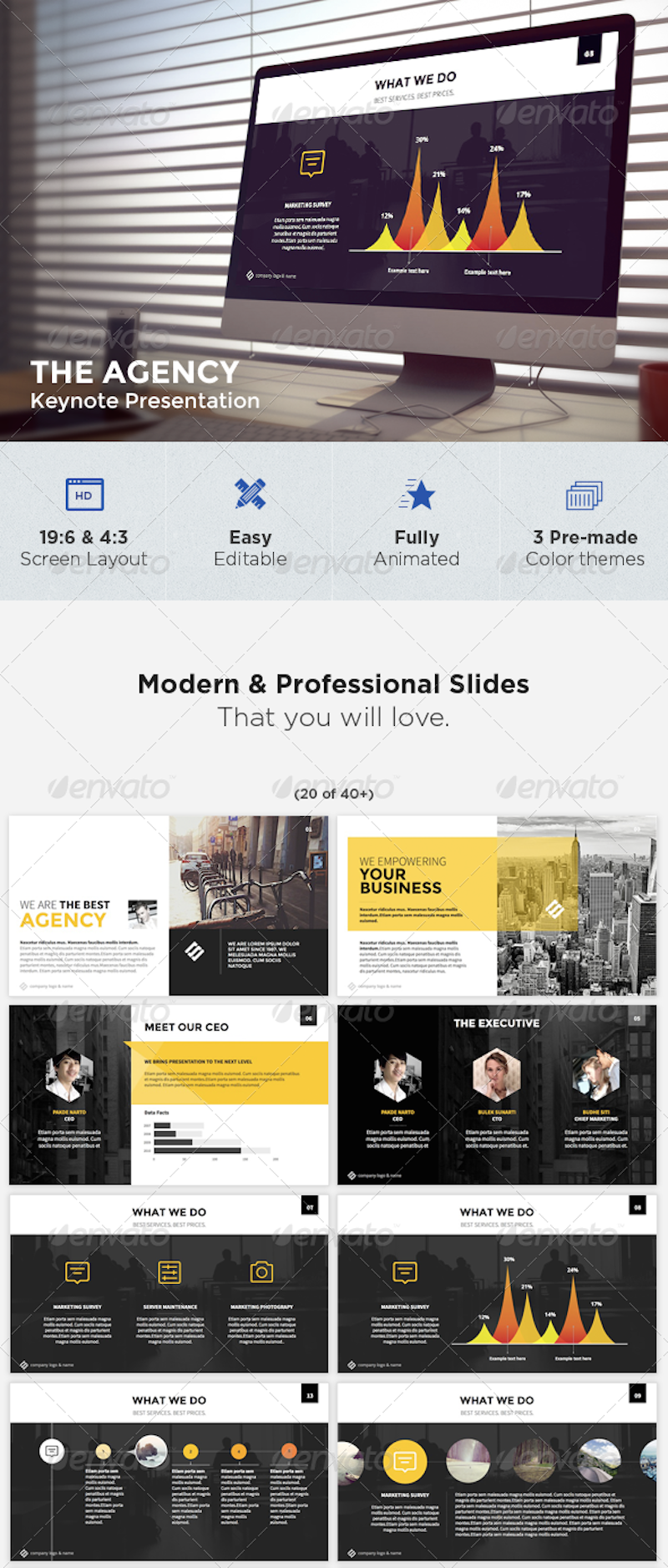 The Agency – Modern Keynote Template
