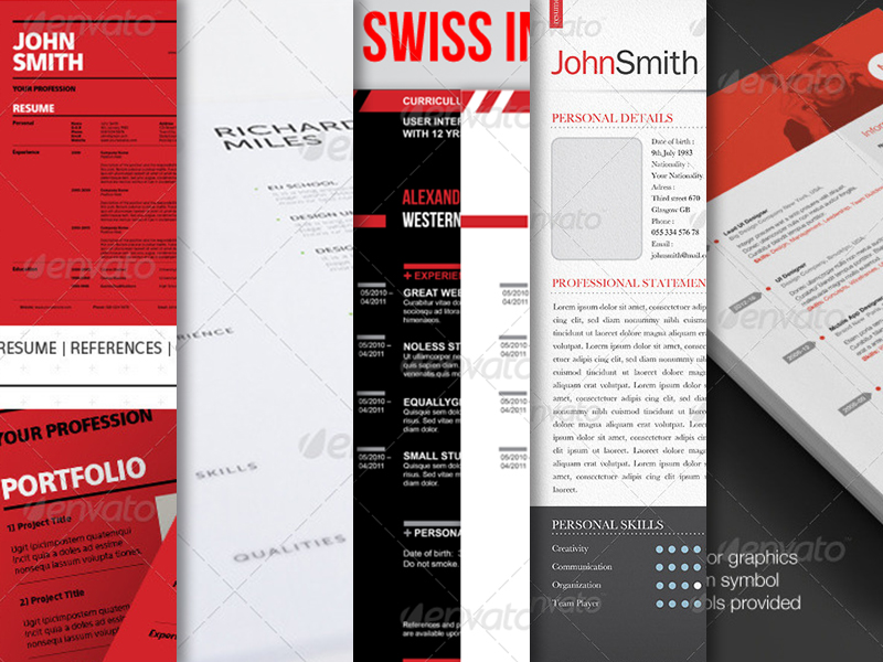 10 Best Swiss Style Resume / CV Templates