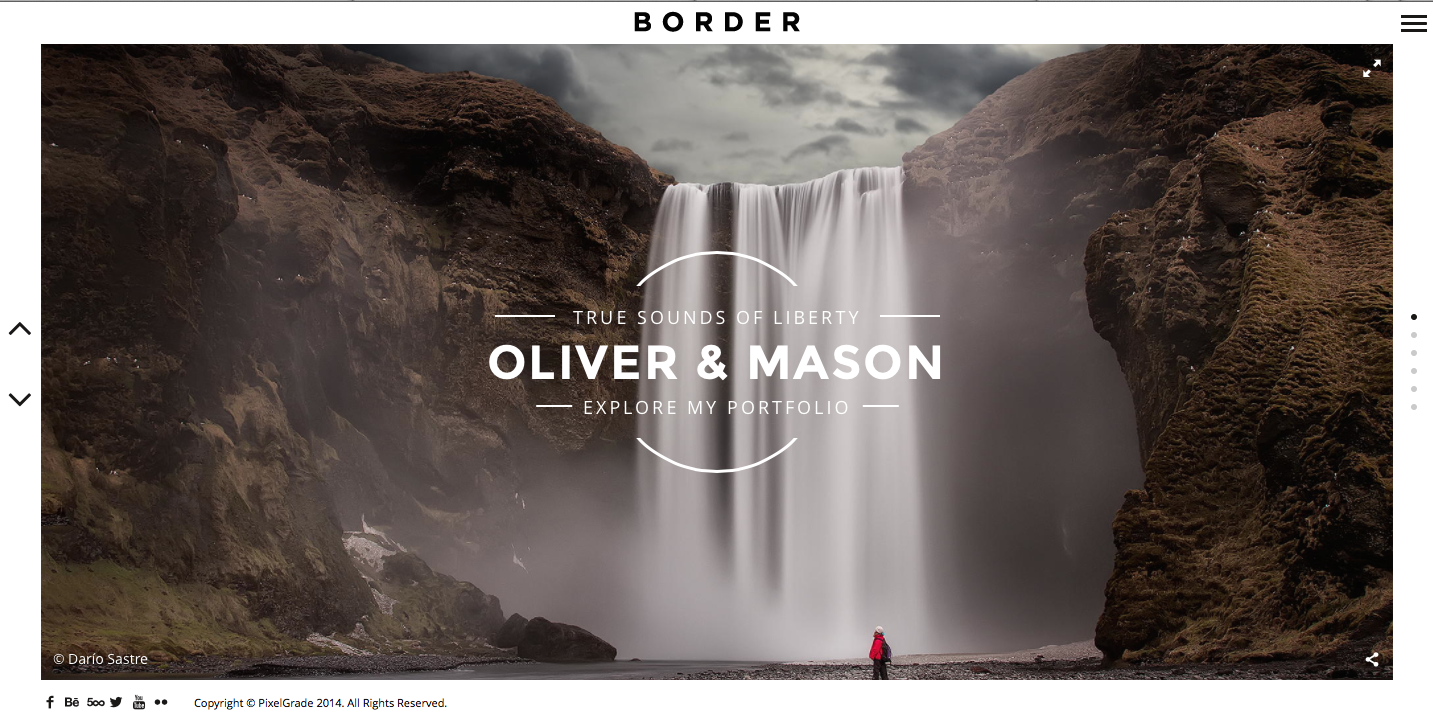 BORDER - A Delightful Photography WordPress Theme2