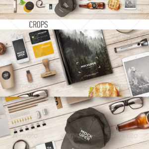 Brutal Wood Branding Mock-Up (PSD)