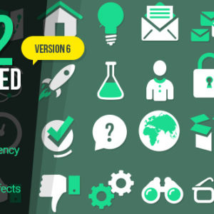 222 Animated Icons – After Effects Template
