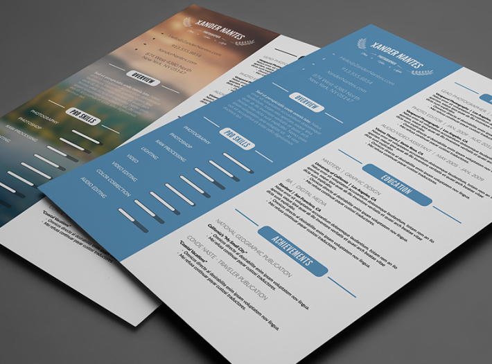Clean Resume – Photoshop PSD Download