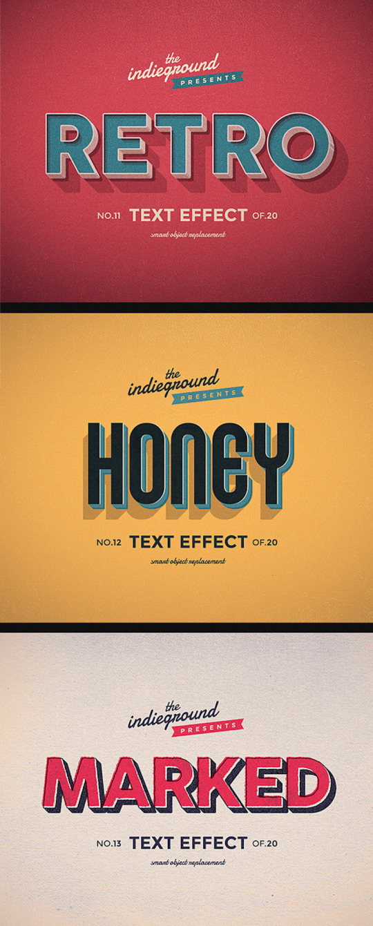 Retro Vintage Text Effects Vol. 2