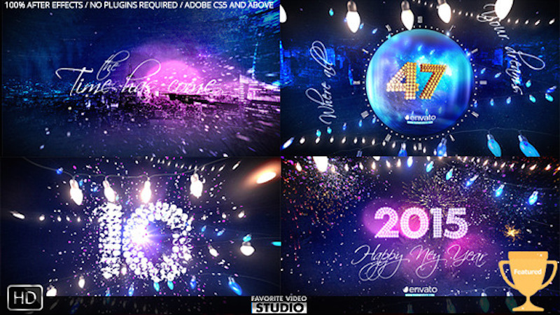 New Year Eve Party Countdown 2015 – After Effects Template