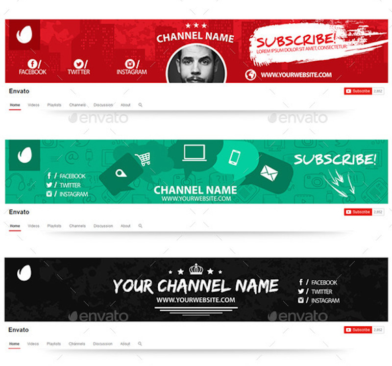 10 Multipurpose YouTube Channel Art