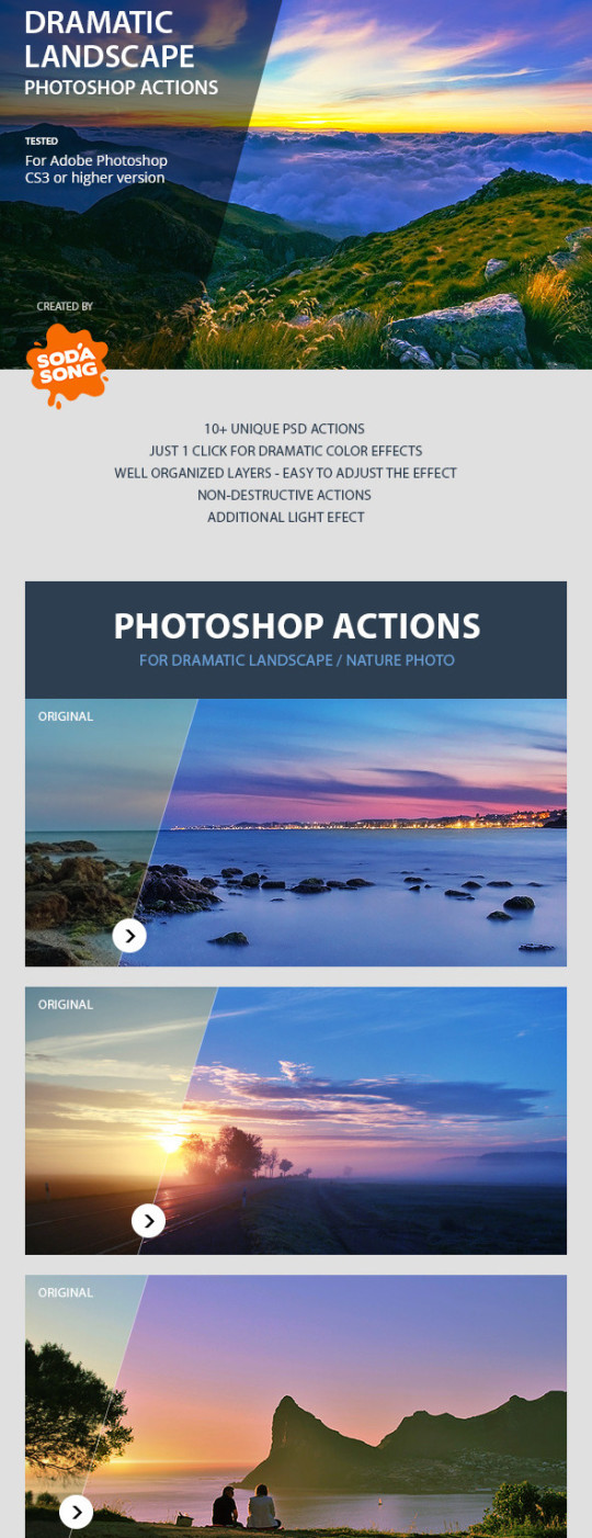 Dramatic Landscape Photoshop Actions