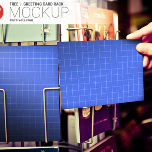 Free Greeting Card Rack Mockup Template