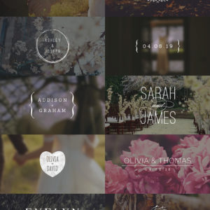 Wedding Titles – After Effects Template