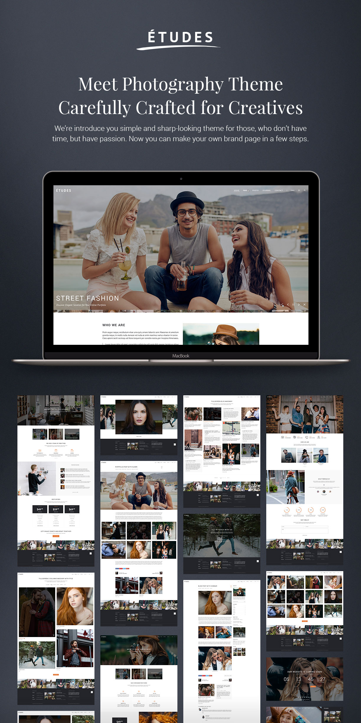 Premium Photography WordPress Theme - Etudes