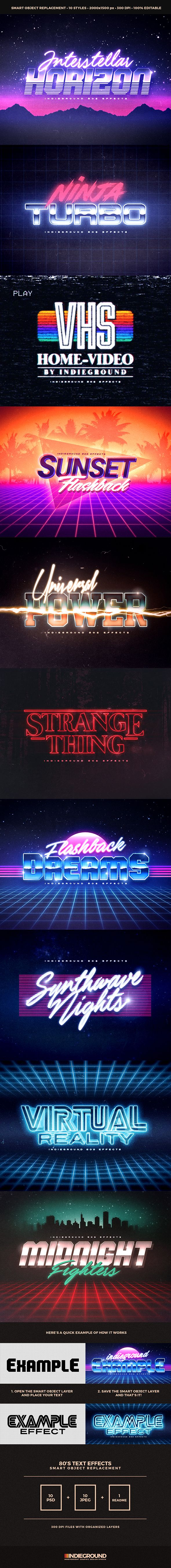 80s Text Effects - Add-on for Photoshop