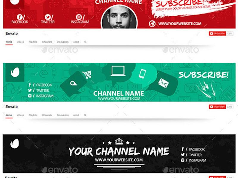 10 Multipurpose YouTube Channel Art2
