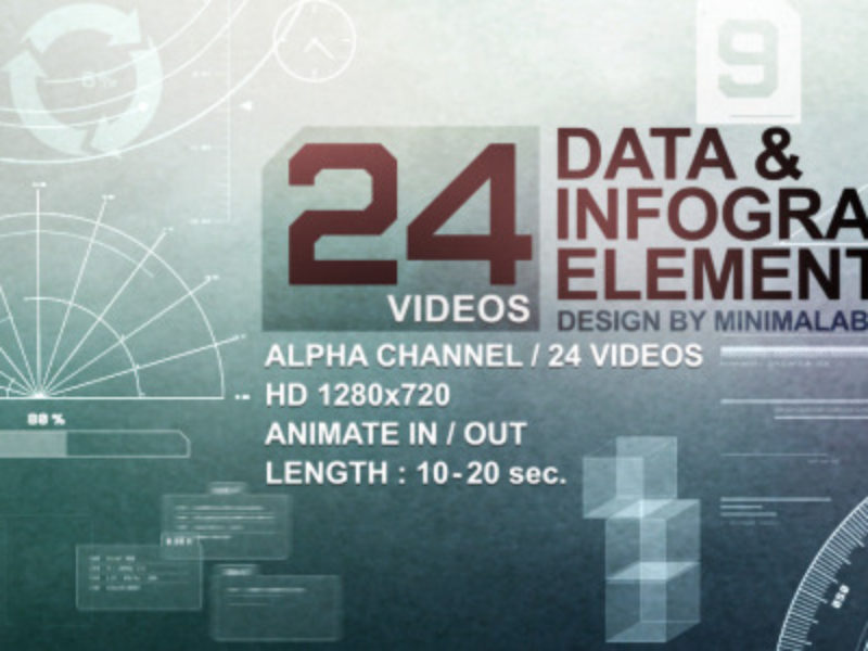 24 Videos Data - Infographic Elements